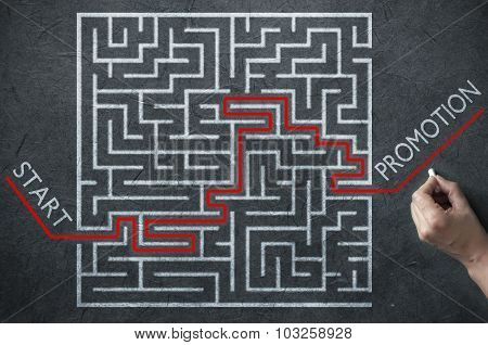 Job Promotion Maze Solution