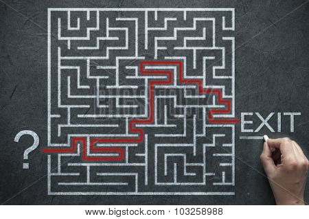 Solving A Maze Problem