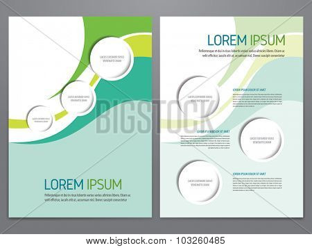 Brochure, annual report, flyer, magazine vector template. Modern corporate design.