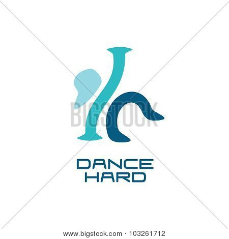Modern Dance School Logo Template