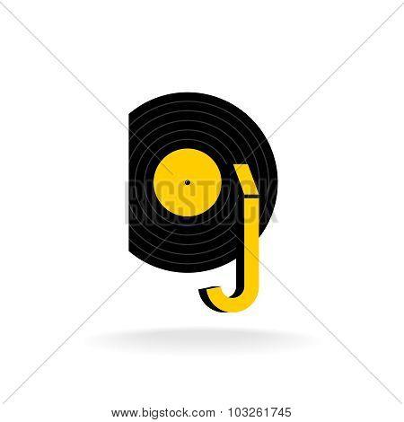 Dj Logo Concept. Music Sign.