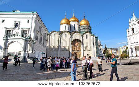 Tourists Visiting The Kremlin