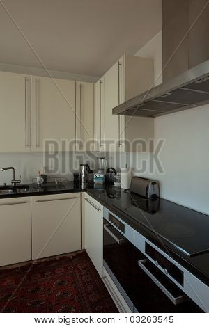 Interior of  house, furnished domestic kitchen