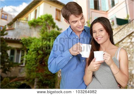 Cheerful couple.