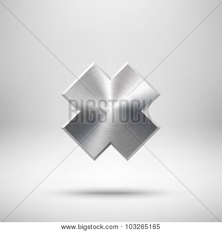 Abstract Cross Button Template