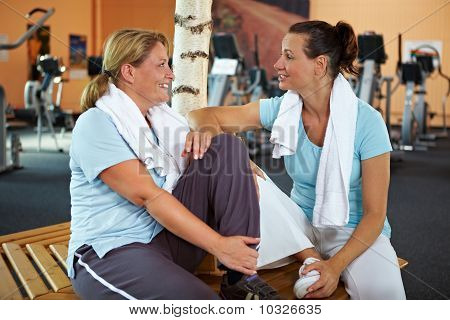 Women Talking After Fitness Training