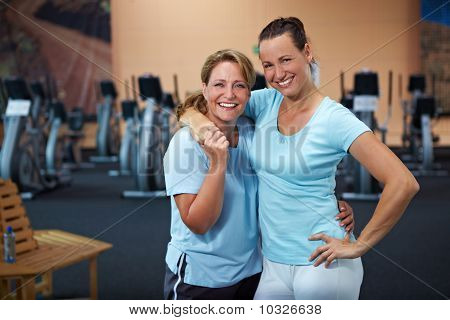 Two Female Employees In Gym