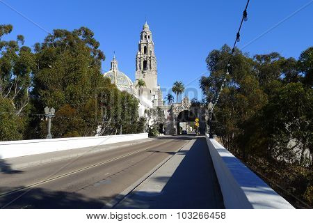 Cabrillo Bridge and California Quadrangle at Balboa Park in San Diego