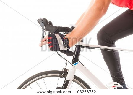 Hand in glove shifting bicycle's gears
