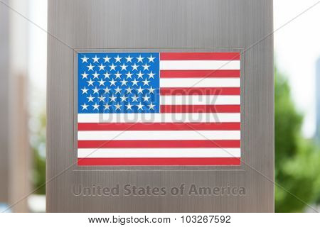 Series Of National Flags On Pole - United States Of America