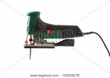 Professional Jig Saw Isolated On A White Background