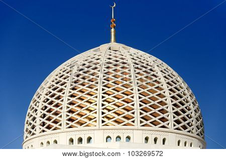 Dome Of The Sultan Qaboos Grand Mosque In Muscat, Oman