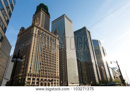 CHICAGO, USA - CIRCA MAY 2015: Chicago downtown, Illinois, USA