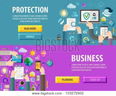 business vector logo design template. protection or planning icon
