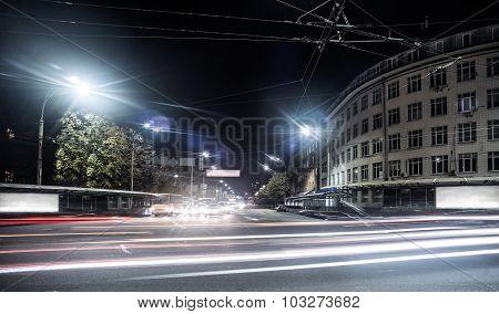 night city view of Kiev