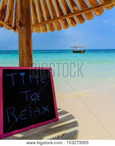 Time To Relax Blackboard