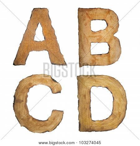 Old, Vintage Alphabet Abcd
