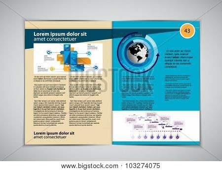 Layout magazine, vector