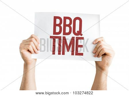 BBQ Time placard isolated on white