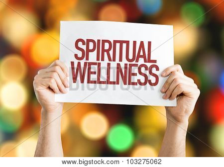 Spiritual Wellness placard with bokeh background