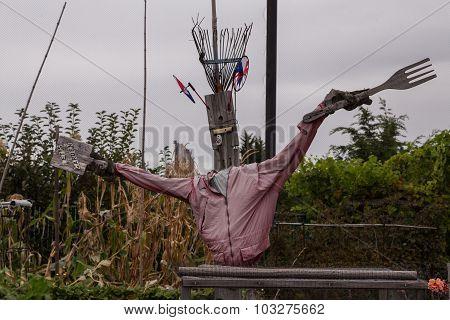 Funny scarecrow