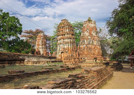 Ruins Of Ancient Monastery. Thailand