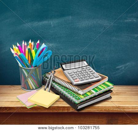 School desk.