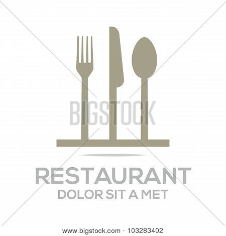Logo kitchen set utensils restaurant