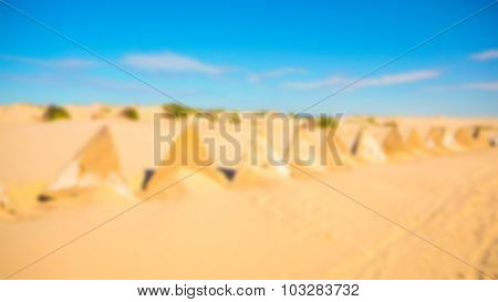 Abstract blur Desert