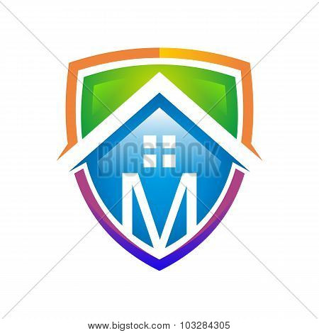 Logo mortgage design real estate graphic icon vector