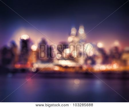 Bokeh City lights abstract