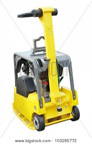 The image of road repair machine under the white background