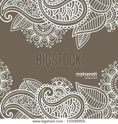 Mehendi Abstract Background