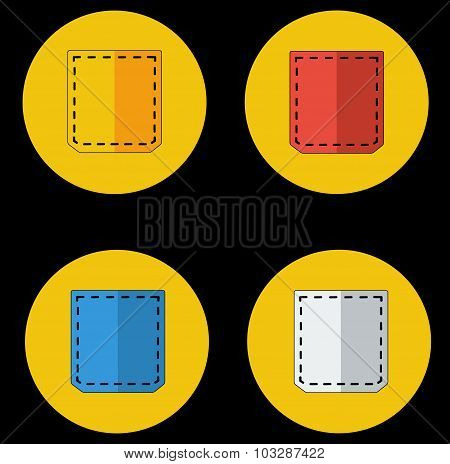 Colored Pocket Icons