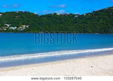 Sandy beach on a tropical island.