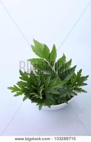 Mugwort Herbal and curry leaves