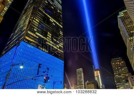 September 11Th Tribute In Light - New York City.