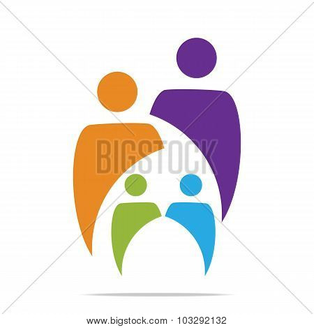 Logo Abstract family children's