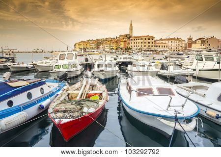 Croatian Coast - Boats And Historic Town