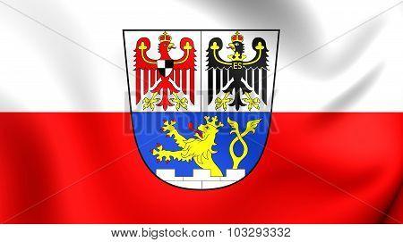 Flag Of Erlangen City (middle Franconia), Germany.