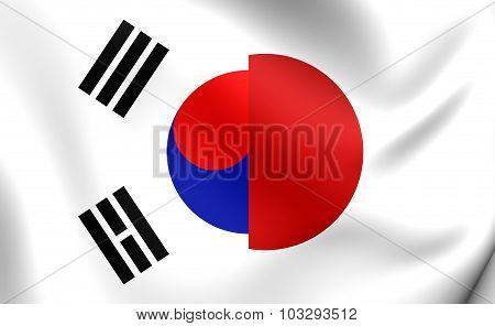 Flag Of Japan And South Korea