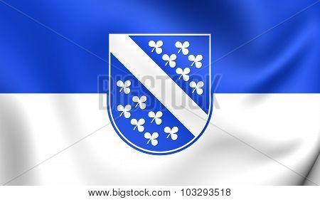 Flag Of Kassel City (hesse), Germany.