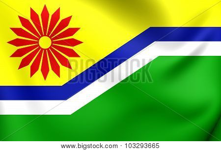 Flag Of Mpumalanga Province, South Africa.