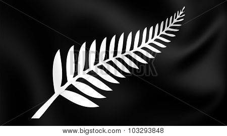 Silver Fern Flag, New Zealand.