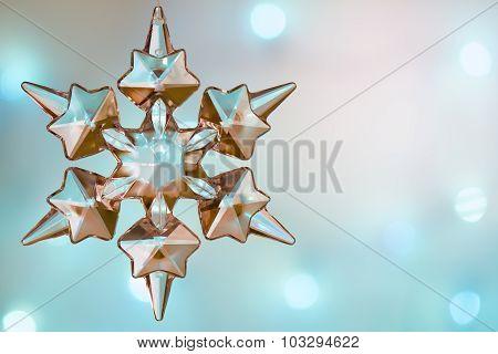 Christmas snowflake crystal blue