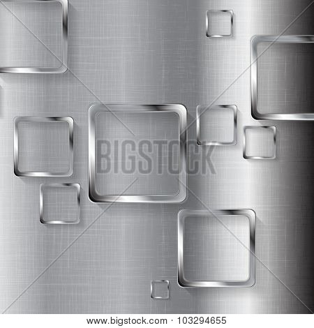 Metal tech design with squares. Vector illustration