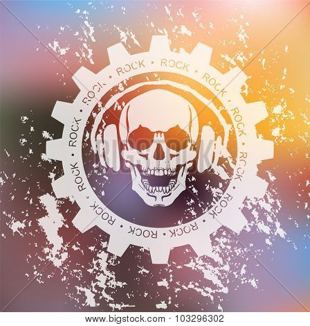SKULL AND headphone