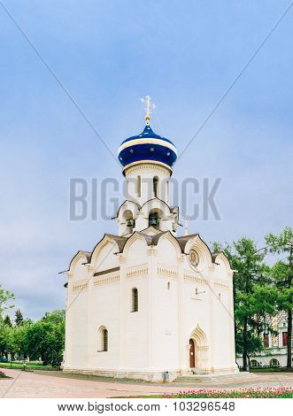 Church in honor of the Descent of the Holy Spirit in Sergiev Posad, Russia.