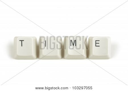 Time From Scattered Keyboard Keys On White