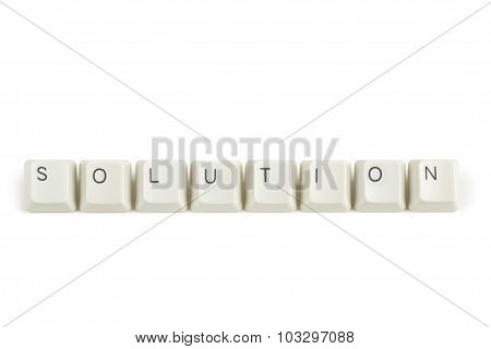 Solution From Scattered Keyboard Keys On White
